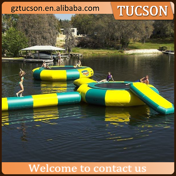 2016 new outdoor sports inflatable water trampoline for sale