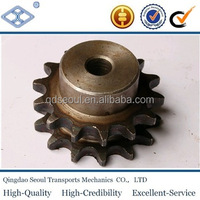 ISO DIN standard pitch 31.75mm high frequency hardening duplex 12T roller chain sprocket with keyway