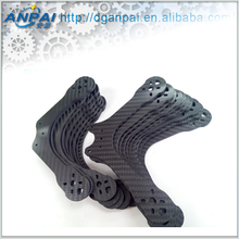 High quality cnc milled real carbon fiber panel / board / plank / oem drone quad parts