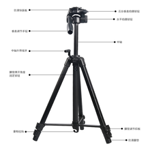 Aluminum professional tripod with fluid head for dslr camera