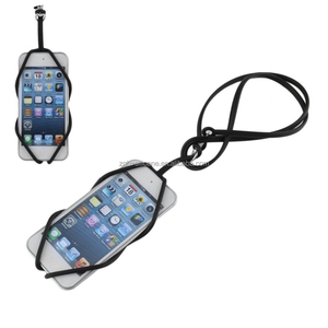 Universal Silicone Necklace Strap Phone Lanyard Case Cord Strap With Card Holder