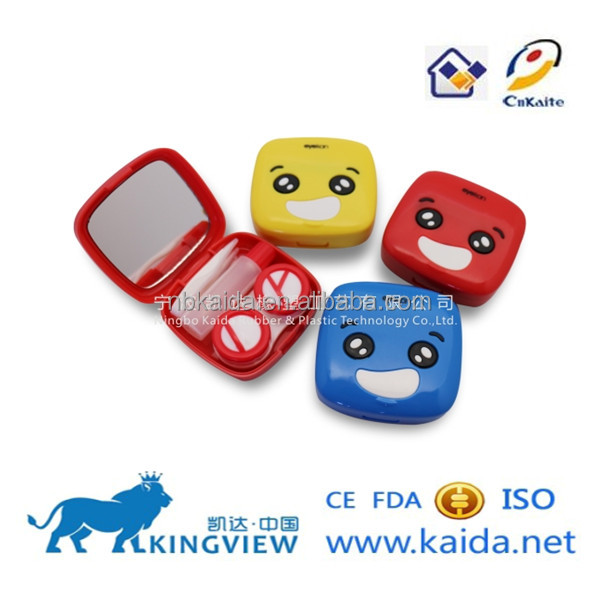 innovative contact lens case color container for lenses