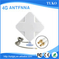 High gain white 35dbi panel crc9 ts9 4g antenna for Huawei modem