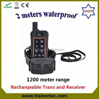 rechargeable & waterproof remote control 500m distance dog training collar