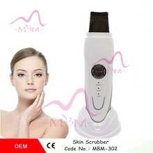 Rechargeable skin scrubber / Portable skin scrubber / mini beauty equipment ultrasonic skin scrubber