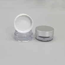 Small Clear Plastic Nail Cosmetic Powder Jar for Cosmetics
