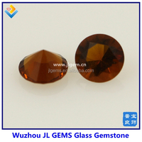 round shape rose red color glass gemstone