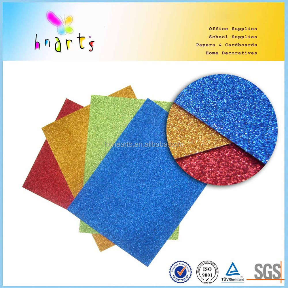 kids craft 280gr glitter paper, cheap glitter craft paper