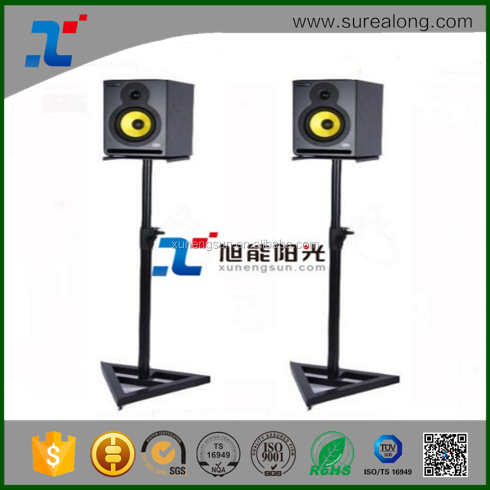 Height Adjustable Speaker Monitor Display Music Metal Audio Stand