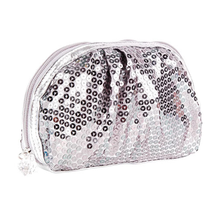 Luxury glitter bling sequins exquisite cosmetic bag fashion professional makeup bag