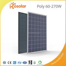 photovoltaic module 60pcs transparent thin film 250w poly solar panel for flat roof solar mounting