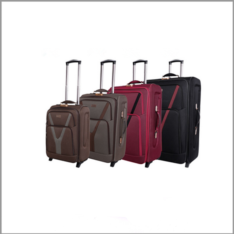 hot sale personalized nylon material soft 4 pieece luggage suitcase sets with eva design in baigou