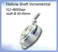 Hollow shaft Industrial Encoder different installation methods shaft IP66