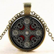 Women & Men Round Pendant Necklace Vintage Accessories Celtic Cross Collar Necklace Women Collar Easter's Jewelry Wholesale