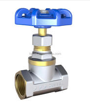 S5202 1/2 inch Brass Globle nickleplated flow stop Valve