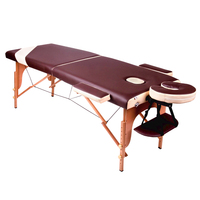 Wooden Two fold Standard Cushion Reki Tattoo Facial Eye Extension Massage Table