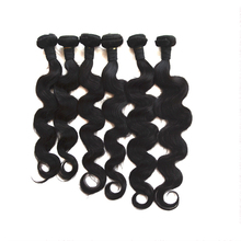 customer made private label natural black color 27 piece human hair weave
