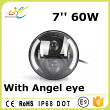 7inch 60w 12v offroad led work light for mini tractor ,Truck, Jeep. Oil Work , ATV UTV 4X4 SUV AUTO Lighting Parts