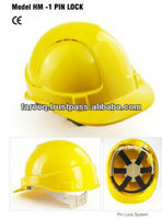 Safety Helmets With Pin Lock