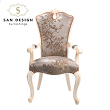 Royal hand carved baroque antique white King Throne living room chair