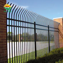 2.4m Length 1.8m Height Decorative Metal Commercial Fence