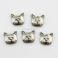Free Shipping ! New Design Vintage Cat Head Pet Zinc Alloy Floating Locket Charms
