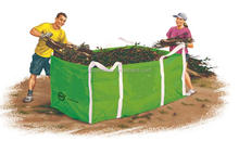 Light green construction Waste Skip bags 1 Cubic centres for rubbish rubble