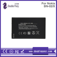 Factory directly supply high power mobile phone battery for Nokia BN-02/X