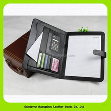 15015D Multifunctional highly genuine leather file folder