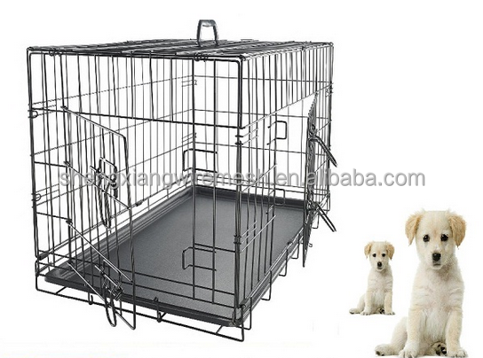 ISO9001 made in china factory manufacture outdoor galvanized or pvc coated welded large big animal pet dog cage kennel house