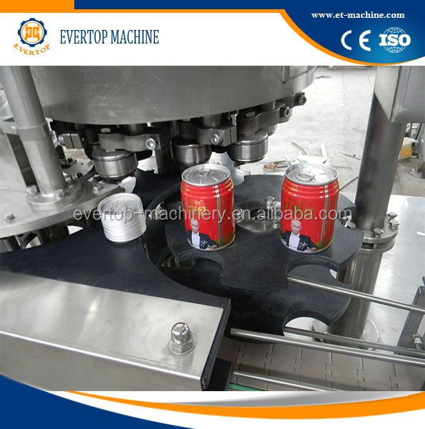 Factory direct sale beverage can filling 2 in 1 machine