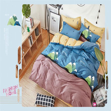 Lepanxi brand 100% cotton active printed high quality comforter bed set