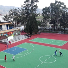 Outdoor Sports PP Interlocking Tiles Basketball Flooring Covering