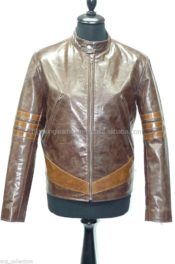 Hot X-MAN-2 fashion Movie Film Real Leather Jacket napa leather jackets