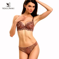 Bottom Price Luxury Mature Women Transparent Sexy Bra Set Underwear