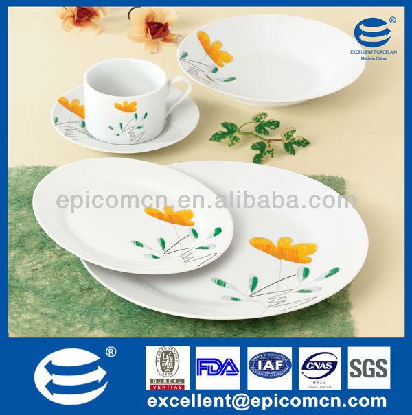 20 pcs natural design round ceramic dinnerware porcelain homeware wholesale