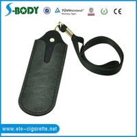 2013 hot! cheap leather ego bag for electronic cigarette with lanyard