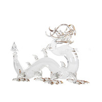 Animal shaped horse cow dragon shaped clear glass wine liquor bottles