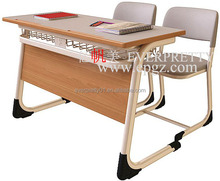 Double Combination Desk and Chair Table Chair