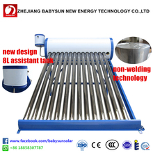 2016 New Design Termas Solares Solar Water Heater System with 8L Assistant Tank