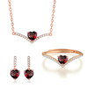 Garnet-Necklace/Earrings/Ring