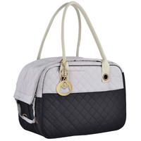 Stylish Tone Quilted Soft Sided Travel Dog/Cat/Pet Carrier Tote Hand Bag