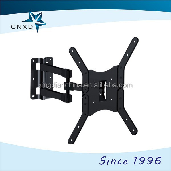 swivel tv mounts bracket with cable management / Dual Arm Tilt and Swivel Cantilever retractable tv bracket for Flat Panel TVs