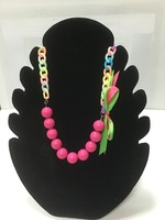 GIRL'S PLASTIC BALLS CHAIN NECKLACE