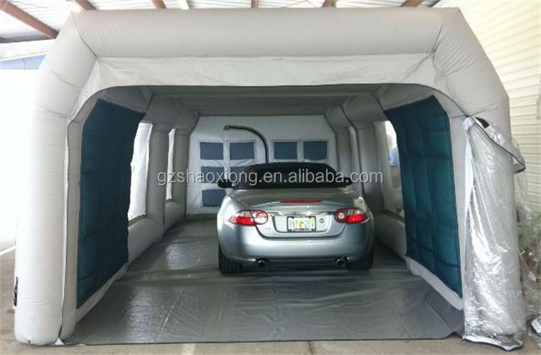 Good price outdoor portable inflatable car wash tent, durable inflatable car garage tent
