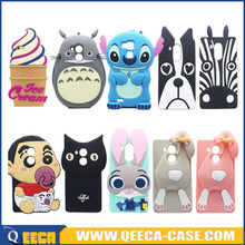 3D minion silicone case for iphone 6 s 6 plus cartoon animal phone case