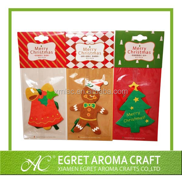 2015 OEM design best seller hanging paper car air freshener Christmas tree shape scented car air