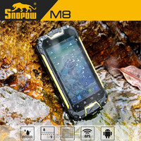 SNOPOW M8 IP68 waterproof 4.5 inch walkie talkie 5 KM android 4.4 NFC wireless charger quad core rugged smartphone