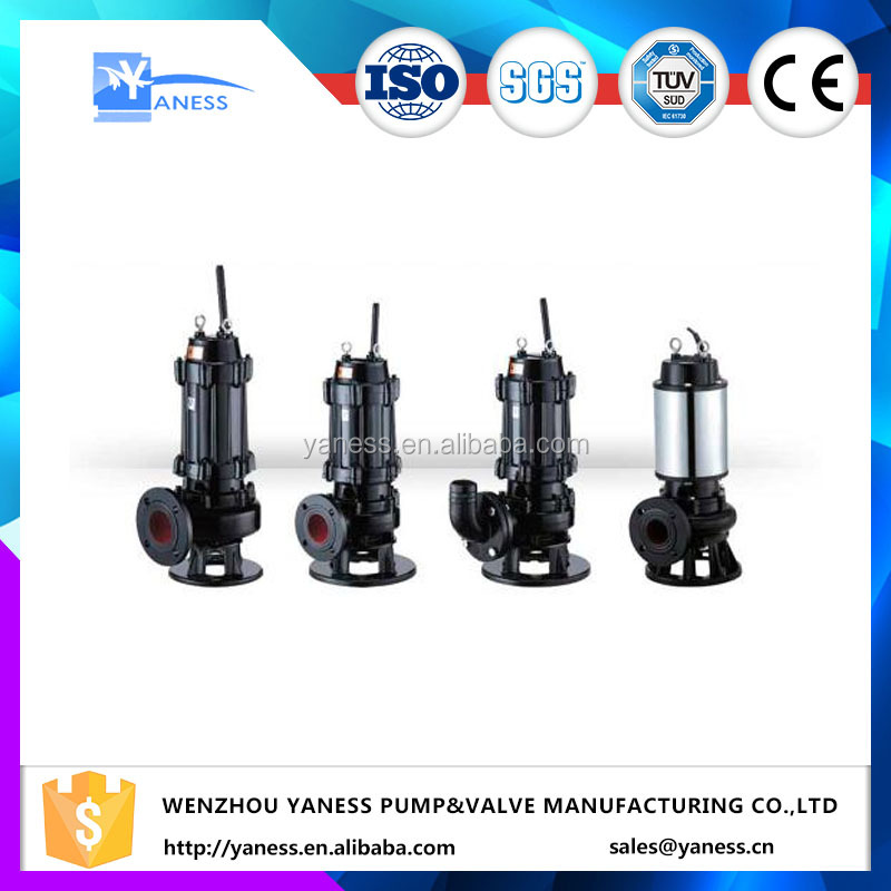 non-clogging electric waste water dewatering submersible sewage centrifugal sludge pump with motor