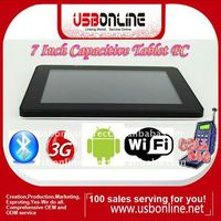 7 inch capacitive touch screen android 2.2 tablet pc/MID/UMPC/laptop buint in 3G with phone function